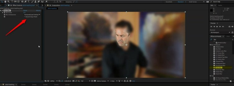 fast blur in after effects