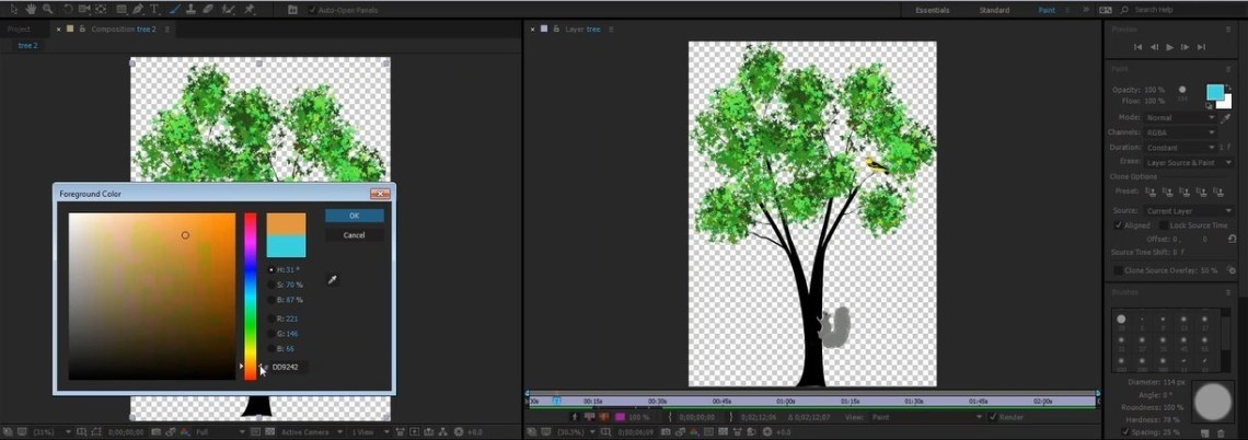 brush tool in After Effects