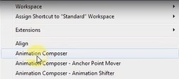 where to choose the animation composer