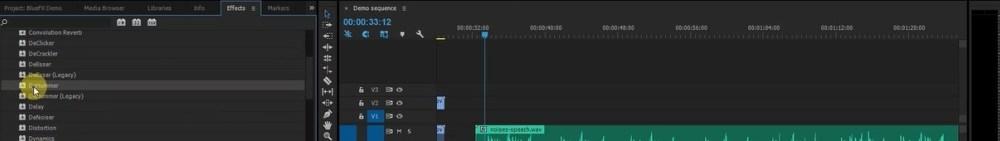 Dehummer in Audio Effects Adobe Premiere Pro
