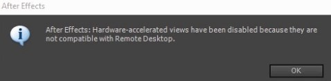 harware accelerated views error