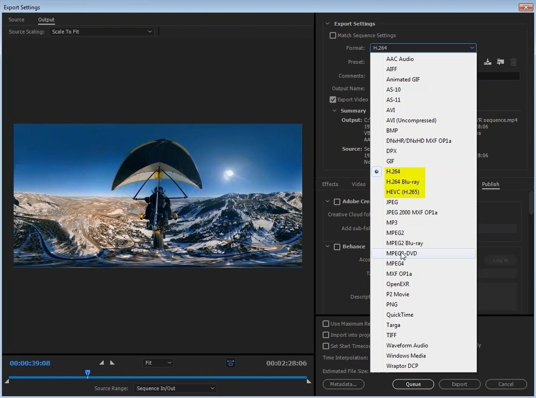 How to export VR files