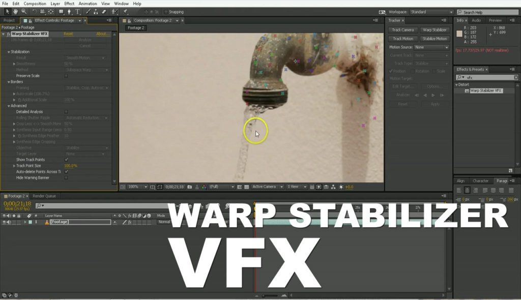 Stabilizing Footage in After Effects With The New Warp Stabilizer