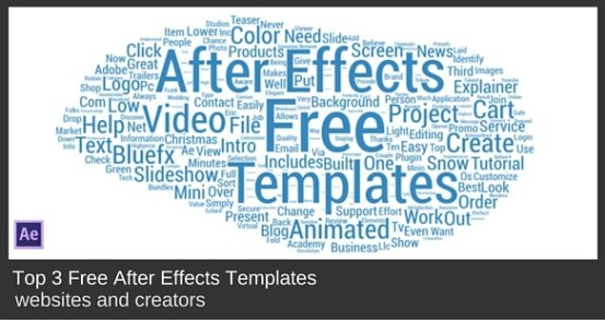 Top 3 Free After Effects Templates Websites Bluefx