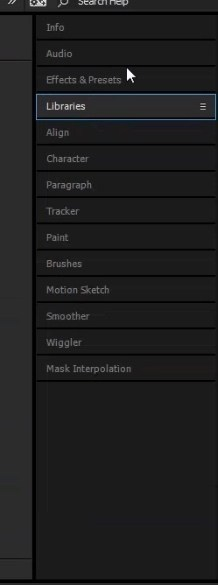 workspace bar in after effects cc 2015 5