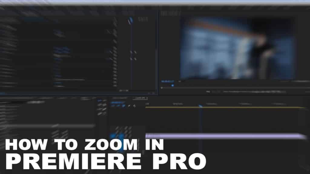 How To Zoom In Your Footage In Premiere Pro - BlueFx